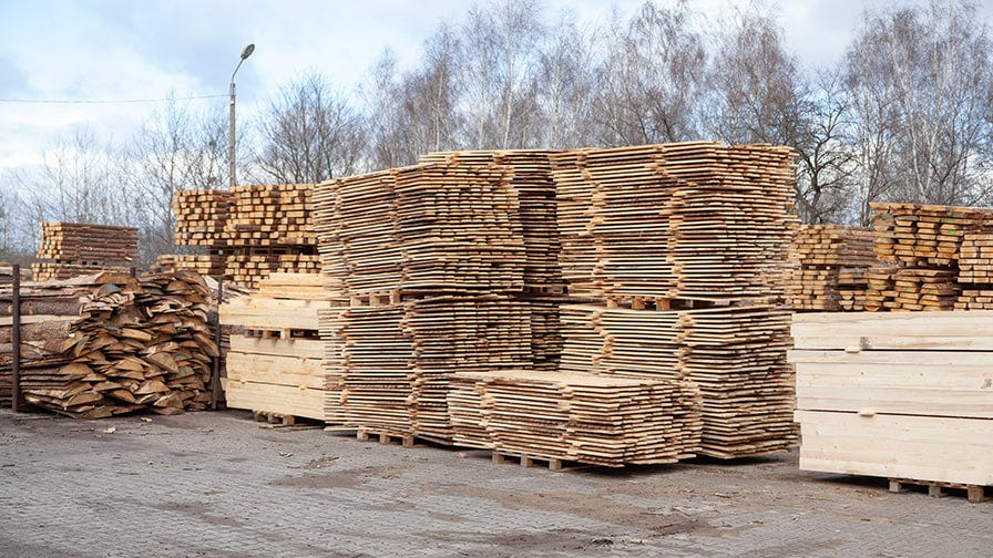 Pallets prepared for delivery